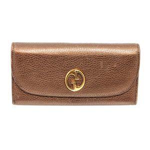 Gucci Gold Leather 1973 Continental Wallet